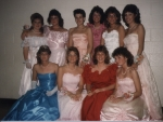 Junior Prom  Top row:  Kim Knapp, Beth Sylvester, Carrie Donahue, Chris Roe, Aimee Brimley, Laurie Skinner  Bottom row: